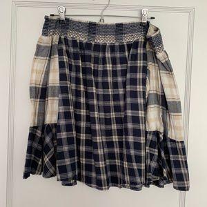 LOFT flannel off the shoulder shirt
